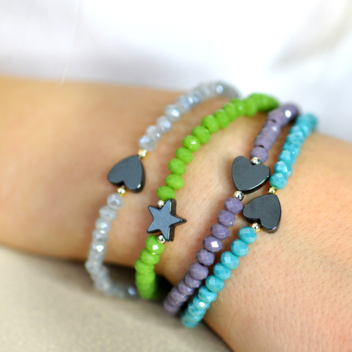 Friendship-Armbänder Größe M in Hellrosa