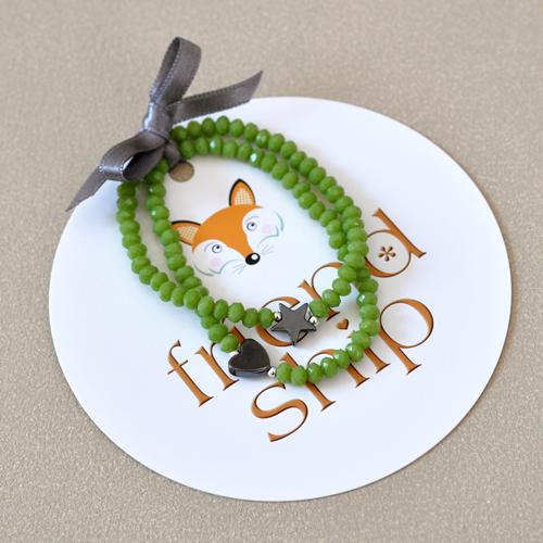 Friendship-Armbänder Größe S in Grün