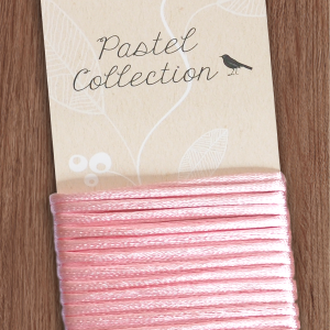 Pastel Collection Satinkordel Rosa
