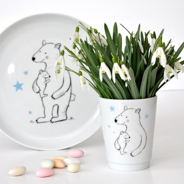 Kinderbecher Porzellan Bär