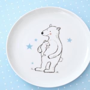 Kinderteller Porzellan Bär