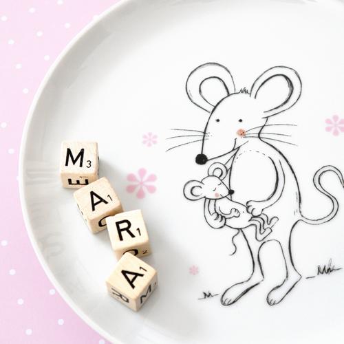 Kinderteller Porzellan Maus