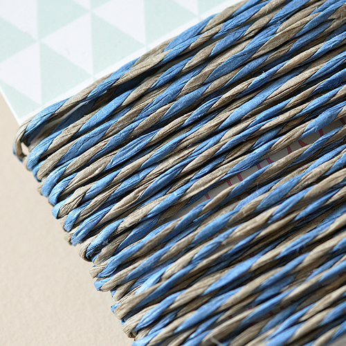 5 Meter Papierkordel Blau-Natur
