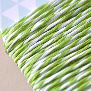 5 Meter Papierkordel Grün-Weiß