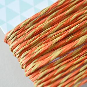 5 Meter Papierkordel Orange-Gelb