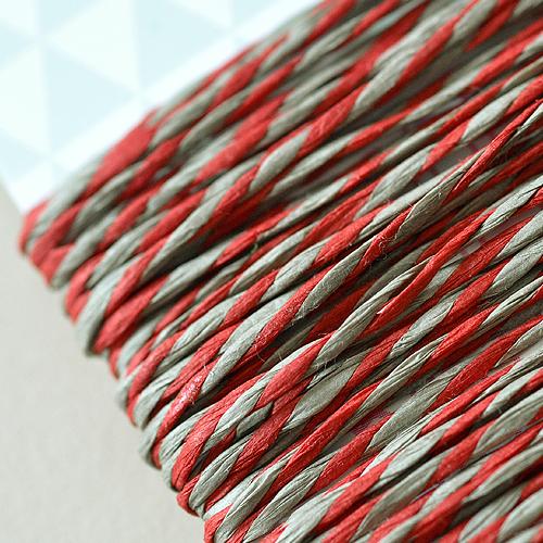 5 Meter Papierkordel Rot-Natur