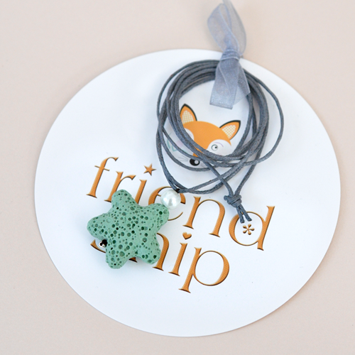 Friendship-Kette Seestern Hellgrün