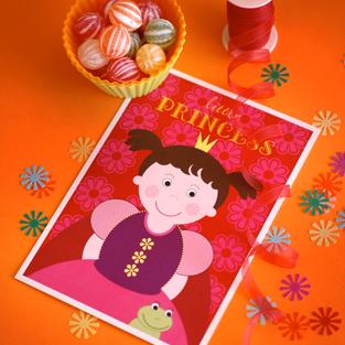Postkarte Prinzessin